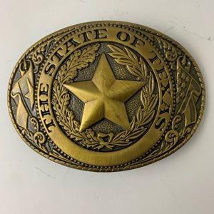 Texas vintage western belt buckle